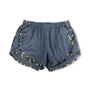 Calvin Klein Running Shorts Gray Floral Hem Trim M
